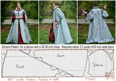 Italian Renaissance Coat: Zimarra by MorganDonner - Historical Fashion Italian Renaissance Dress, Costume Renaissance, Renaissance Mode, Medieval Costume, Renaissance Fashion, Renaissance Clothing, Medieval Dress, Renaissance Wedding, Costume Patterns