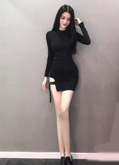 Korean Fashion – How to Dress up Korean Style – Designer Fashion Tips Black Women Fashion, Dark Fashion, Womens Fashion, Petite Fashion, Fashion Boots, Dress Up, Bodycon Dress, Girly Outfits, Cute Outfits