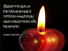 """""""Bendita sea la fecha que une a todo el mundo en una conspiración de #Amor"""". #HamiltonWrightMabi #Frases #Navidad @candidman"""