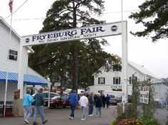 Fryeburg, Me. Beautiful views of the White Mountains, and the last big State Fair of the year in Maine!