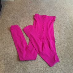 Hue control top hot pink tights Hue control top hot pink tights. Like all tights has no tag. HUE Accessories Hosiery & Socks