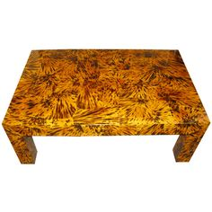 Lacquered faux tortoise shell coffee table