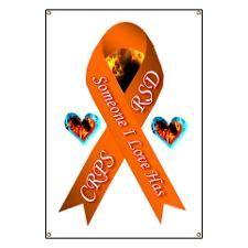 Someone I Love has CRPS RSD Orange Ribbon F Banner
