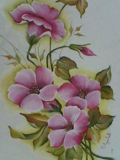 Pin Pintura Em Tecido De Rosas E Botões Passo A on Pinterest