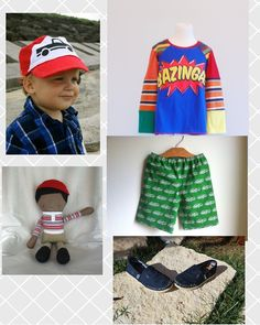 Hipster boy clothes - handmade clothing for boys, hipster kids, etsy style, colorful boys clothes    check out style-a-kid.blogspot.com for more great kids' style inspiration!