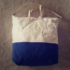 GAP Canvas Zippered Tote Brand new with tags- GAP Canvas zippered Tote- Blue and White GAP Bags Totes