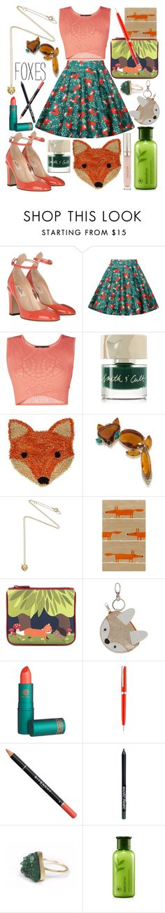 """Foxy Style"" by nikkimmorrison ❤ liked on Polyvore featuring beauty, Valentino, BCBGMAXAZRIA, Smith & Cult, Trina Turk, Estella Bartlett, Miss Selfridge, Lipstick Queen, Montblanc and Givenchy"