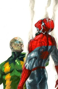 Spidey vs Electro  (The Amazing Spider-Man #683 Variant) - Gabriele Dell'Otto