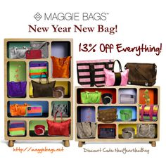 Maggie Bags New Year New Bag 13% Off Everything at http://maggiebags.net. Sale ends 1/15/13  #sale #discount #newyearnewbag #maggiebags #handbags