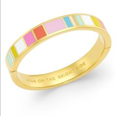 Kate spade bangle Brand new hinged bangle! Perfect for summer. Comes With dust bag. Make an offer!! kate spade Jewelry Bracelets