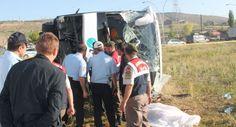 Eskişehir Yolunda Otobüs Kamyona Çarptı 2 Ölü 43 Yaralı