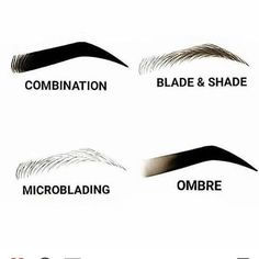 Microblading Eyebrows : Illustration Description The different Permanent Makeup techniques, in a nut shell I ONLY offer the Ombré technique. Mircoblading Eyebrows, Tweezing Eyebrows, Permanent Makeup Eyebrows, How To Grow Eyebrows, Eyebrow Makeup, Thick Eyebrows, Makeup Eyes, Eyelashes, Eyeliner