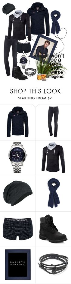 """Unbenannt #355"" by funkenregen ❤ liked on Polyvore featuring Superdry, Jacob Cohёn, Victorinox Swiss Army, Polo Ralph Lauren, Emporio Armani, Timberland, Barneys New York, MIANSAI, Black Apple and men's fashion"