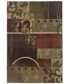 Area rug to go with sage/olive and red...colour inspiration for mudroom (with vanilla and tiny bit of espresso)