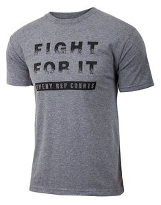 8874923ee Men's Clothing, Active, Active Shirts & Tees, Fight For It - Every Rep  Counts - Men's Weightlifting Gray Triblend Workout Gym T-shirt -  C4186H2O9CA #men ...