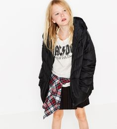 Light hooded jacket - Quilted-OUTERWEAR-GIRL | 4-14 years-KIDS | ZARA Mexico
