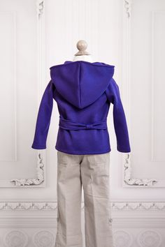 Girls Purple Glacial Hoodie Back View