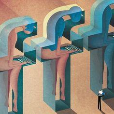 Surrealismo realista: la sociedad contemporánea ilustrada