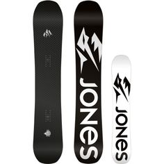 If you're looking for a playful board for cruising groomers and lapping the park, you've come to the wrong place. The Jones Carbon Flagship Snowboard is a seriously-stiff, big mountain competition-winning freeride stick that's insanely lightweight and lively. Pick one up for all your hard-charging needs—if you think you can handle it.  A carbon topsheet and strategically-placed carbon stringers make this board ridiculously quick edge-to-edge, chatter-free in choppy terrain, and stiff enough…