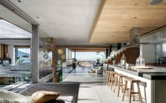 SAOTA relied on robust uncluttered finishes of off-shutter concrete for soffits and various walls, painted bagged brickwork, specialized pol...