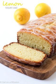Lemon Yogurt Cake -Incredibly moist and tender, melts-in-your mouth, and finger-licking delicious! The perfect lemon flavorful through the cake! Perfect anytime of the day.