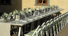 #white and #green for this #wedding table...under the sun of #Tuscany violamalva.it