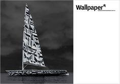 Wallpaper dazzle sailboat
