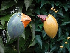 Kreative Gartenstecker als Deko