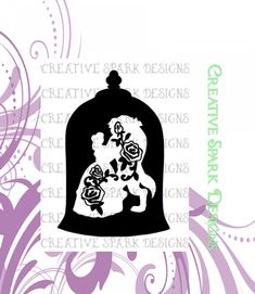 Beauty and the Beast Rose Dance Silhouette by CreativeSparkDesigns