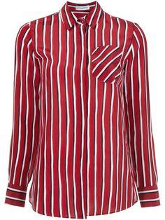 Chika Striped Shirt - Red and White $$$