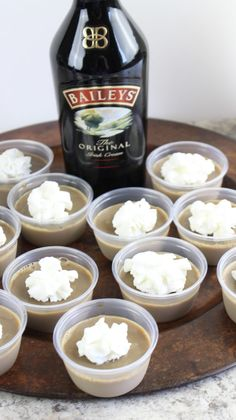Add the sugar and whisk well to incorporate. Add the Bailey's Irish Cream and stir well. Pudding Shot Recipes, Jello Pudding Shots, Jello Shot Recipes, Alcohol Drink Recipes, Alcohol Jello Shots, Shooter Recipes, Irish Cream Drinks, Baileys Irish Cream Coffee, Christmas Jello Shots