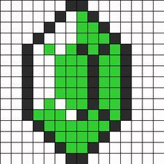 28 Images of Pixel Art Template Zelda Ruppee Pixel Art Templates, Perler Bead Templates, Diy Perler Beads, Perler Bead Art, Fuse Bead Patterns, Perler Patterns, Beading Patterns, Cross Stitch Patterns, Kandi Patterns