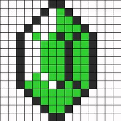 Zelda Ruby Perler Bead Pattern   Bead Sprites   Misc Fuse Bead Patterns