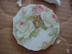 How to nip focal flower from china plate.
