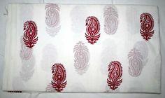New Indian Sanganeri Hand Block Print Fabric Jaipuri 100% Cotton Fabric #Handmade