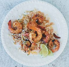 Sauteed Shrimp Recipe (This quick and easy shrimp recipe is on the table in less than 25 minutes. It has just enough spice to intrigue but not overwhelm. Sauteed Shrimp Recipe, Shrimp Recipes Easy, Seafood Recipes, Chicken Recipes, Dinner Recipes, Healthy Recipes, Zoodle Recipes, Healthy Eats, Crockpot Recipes