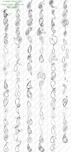 paisley designs photoshop brushes set digital art photoshop brushes graphics and daily rumblings Motif Paisley, Paisley Design, Paisley Pattern, Paisley Doodle, Paisley Art, Doodles Zentangles, Doodle Patterns, Zentangle Patterns, Art Patterns