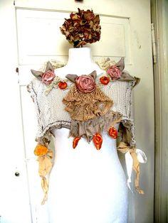 Bridal  Wedding Bolero Reconstructed Upcycled by recyclingroom, $100.00