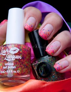 Chit Chat Nails Guest Post for Kellie Gonzo.  Lush Lacquer, KB Shimmer & Cirque polish.