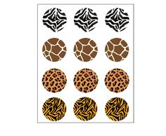 Gorgeous Cupcake Toppers in 2 inches by 12, with 4 patterns (3 of each design) . Ready to apply to your own cupcakes.