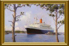 Statendam IV (1956-1983) entering Two-Rock Passage near Hamilton, Bermuda