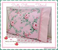 DIY Pillowcases - Pretty Pillowcase With Lace Trim - Easy Sewing Projects for Pillows - Bedroom and Home Decor Ideas - Sewing Patterns and Tutorials - No Sew Ideas - DIY Projects and Crafts for Women http://diyjoy.com/sewing-projects-diy-pillowcases