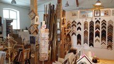 Interior of my frame shop.