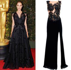 Get the look: Angelina Jolie's beautiful black evening dress