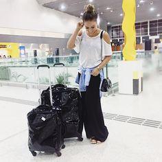 look do dia aeroporto por Juliana Goes