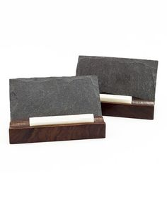 This Mini Slate Menu Board & Chalk - Set of Two is perfect! #zulilyfinds