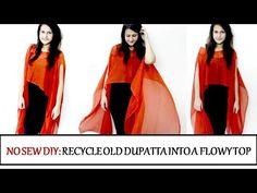 dfa81ad38 DIY  Convert Old Dupatta or Scarf into a Flowy Top