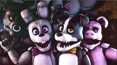 All animatronics from Those Nights at Rachel's! Models modeled by: Smashing Renders Model design: Smashing Renders and Nikson Port by: RED_EYE I'd be glad if all art made with these models is Video Game Drawings, Fnaf Drawings, Fnaf 1, Fnaf Characters, Rpg Horror Games, Creature Concept Art, Sister Location, Freddy S, Tom And Jerry