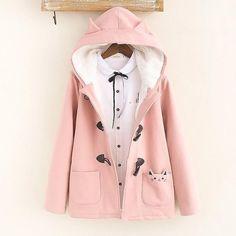www.sanrense.com - Pink students hoodie jacket SE10837