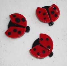 Ladybugs Fused Glass por Fireflysg1112 en Etsy